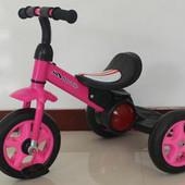 Трехколесный детский велосипед 1713 розовый