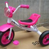 Трехколесный детский велосипед  розовый