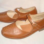 Немецкие туфли р.39, женские, девочке в школу, кожаные
