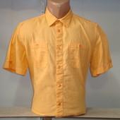 Мужская льняная рубашка с коротким рукавом Bonprix. Есть большие размеры.