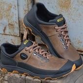 Кожаные кроссовки Ecco Yak Biom Olive
