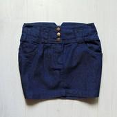 Стильная джинсовая юбка для девочки. Miss e-vie. Размер 12-13 лет. Состояние: новой вещи