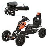 Детский веломобиль GM504+ eva колеса(задний привод),оранжевый