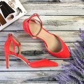 Яркие летние туфли на миниатюрном каблуке с изящным носком   SH1336