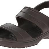 Сандалии Crocs Classic, М12, синие, коричневые