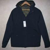 Новая мужская куртка in extenso темно-синяя осень-весна р.L утепленная из Ашана модная ветровка