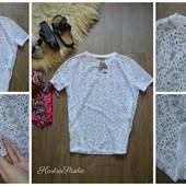 Летняя новая кружевная футболка-блуза,р-р Л-ХЛ