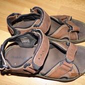 (№819)фирменные кожаные босоножки 40-41 р Hush Puppies