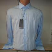 Распродажа мужской однотонной рубашки с длинным рукавом Piazza Italia Man. Разные цвета.