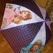 Зонтики для девочек 66 см длина полуавтомат