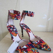 Новые цветные туфли mango,38-39 р.