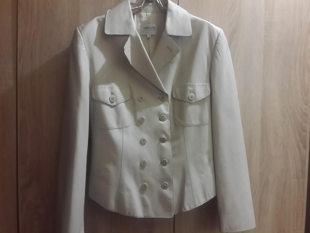 Кожаная куртка, пиджак armani collezioni ,оригинал.италия фото №1