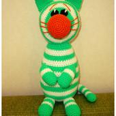 Новая игрушка: травяной кот Укроп, ручная работа, рост 30 см