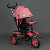 Велосипед трехколесный с поворотным сиденьем Best Trike 6595 красный