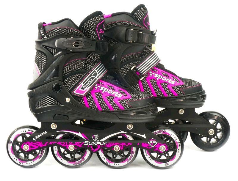 Ролики 9015 l pink – best rollers /размер 39-42 фото №1