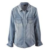 Джинсовая рубашка Livergy голубая