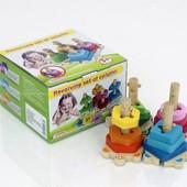 Деревянная игрушка Пирамидка - ключик Черепашка 0487