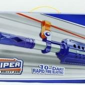 Бластер на батарейках , стреляет мягкими пулями, в коробке 80,5*7,5*27,0см