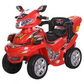 Детский квадроцикл M 0633EBR-3, красный (Eva колеса)
