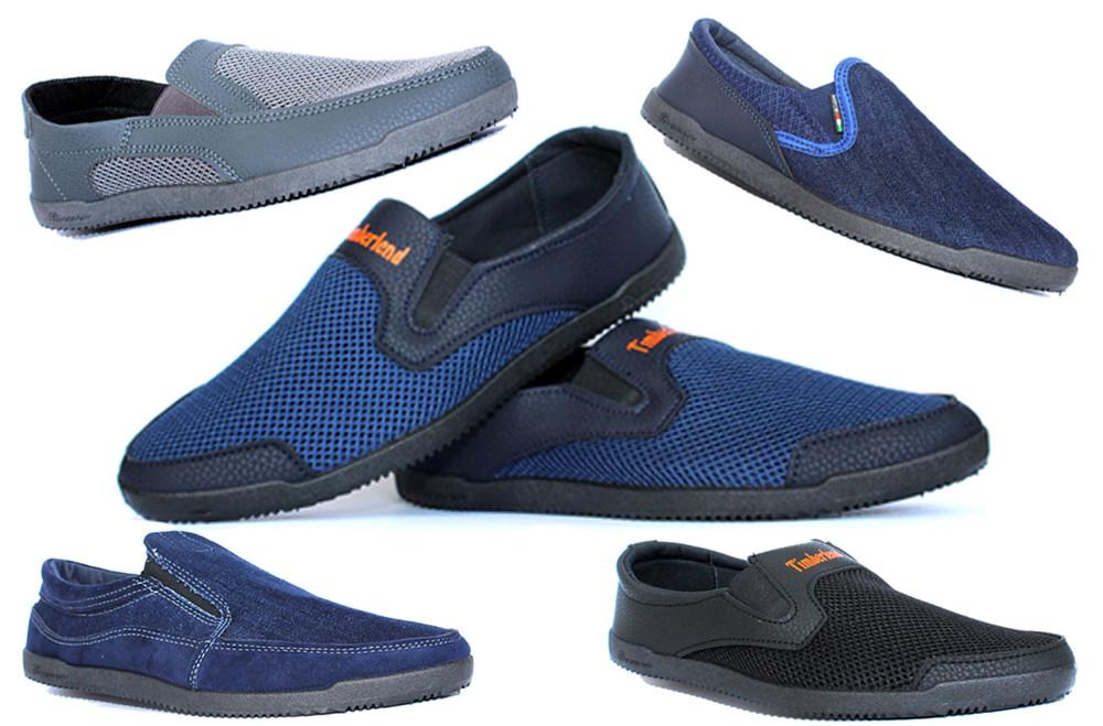 Мужская летняя обувь в ассортименте, мужские мокасины сетка, джинсовые мокасины фото №1
