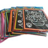 Набор для детского творчества, черная бумага для рисования