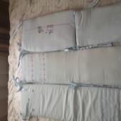 Piccolino набор в детскую кроватку / бампер в кроватку ( защита, пододеяльник, одеяло, 2 простыни)