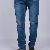 Синие мужские джинсы повседневного стиля