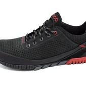 Мужские кроссовки с перфорацией Ecco Е7 чёрные
