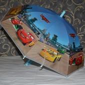 Зонтик зонт детский с яркими героями матовый яркий и весёлый Тачки Маквин