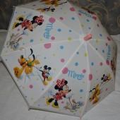 Зонтик зонт детский с яркими героями матовый яркий и весёлый Микки Маус Минни Маус