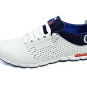 Мужские кроссовки с перфорацией Cuddos Sport Advance Dark белые