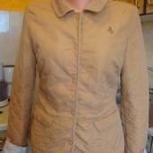 куртка бежевая весенняя стеганая Leu look Размер 12/40 100%хлопок