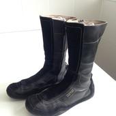 Стильные полусапожки Esprit р. 38 на ногу 24, 5 - 25 см. Сост отл Кожа замш