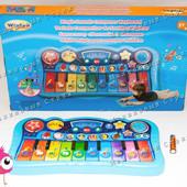 Детский сенсорный синтезатор 2079NL, функция пианино, ударные, звуки животных, функция записи