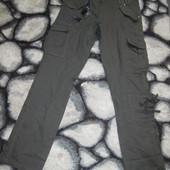 Новые фирменные штаны, капри в стиле карго, р.40, с-м