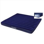 Кровать велюр 68755 син. (без насоса) в кор. 183*203*22 см.