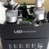 H4/H7/H11 светодиодные лампы 8000Lм 6500 к Cупер Яркость!