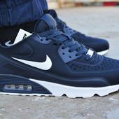 Мужские кроссовки Nike Air Max 90 Blue найк аир макс темно синие
