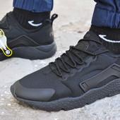 Мужские кроссовки Nike air Huarache ultra black найк аир эир хуарачи черные