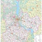 Настенная карта Киевской области (110x150 см, М1:200 000) - на картоне