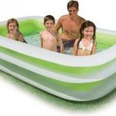 Семейный прямоугольный бассейн Intex