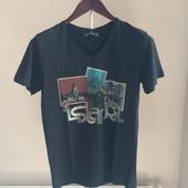 Мужская футболка черная L