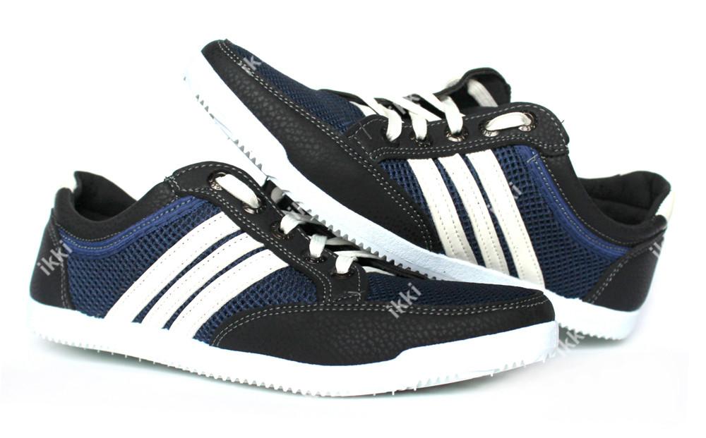 45 р мужские синие летние кроссовки сетка (бл-05сб) фото №1