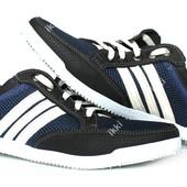 45 р Мужские синие летние кроссовки сетка (БЛ-05сб)