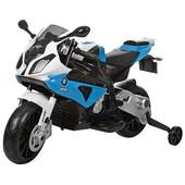 Детский электромобиль мотоцикл синий (M1709) со световыми эффектами
