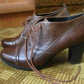 кожаные ботильоны, ботинки Marco Tozzi - 40р. - стелька 26 - 26,5см