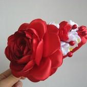 Обруч Цветочный Роза. Под заказ. Разные цвета.