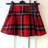 Теплая юбка на девочку 7 лет, 122 см Next