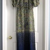 Новое пляжное платье victoria's secret оригинал р.м кавер-ап пляжная туника макси в пол омбре шифон