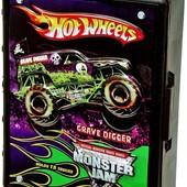 Hot Wheels контейнер кейс для джипов внедорожников в масштабе 1:64 Monster Jam truck case